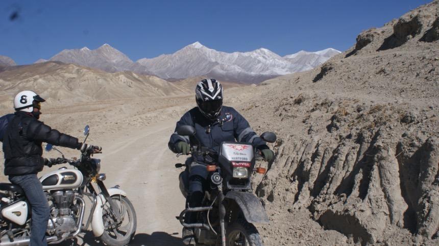 upper mustang by motorbike